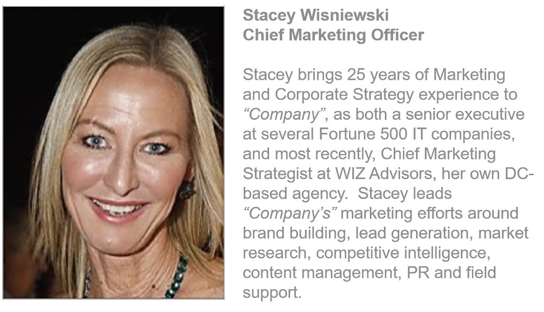 Fractional CMO Services - Stacey Bio